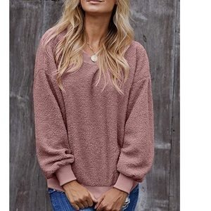 Pink fuzzy popcorn Sweatshirt